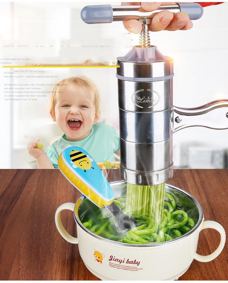 5 Mode Stainless Steel Pasta Noodle Maker Machine Handmade Noodles Press Spaghetti Machine Para Hacer Noodles Fruit Press