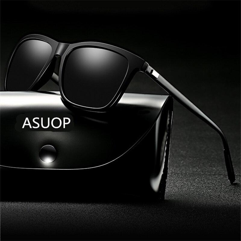 Мужские солнцезащитные очки с защитой UV400, поляризационные солнцезащитные очки в квадратной оправе, спортивные солнцезащитные очки для вож...
