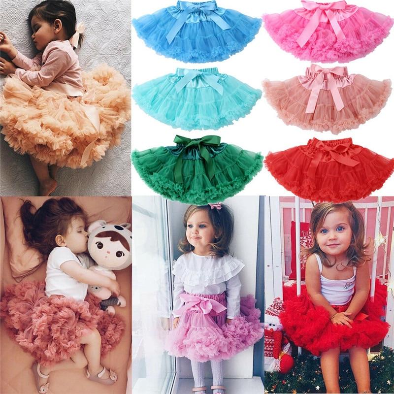 PUDCOCO linda princesa niña pequeña tutú enagua de ballet mullido capa Tull Pettiskirt falda ropa para fiesta 0-2T