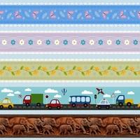 Декоративные наклейки на талию для детской комнаты, 10 м