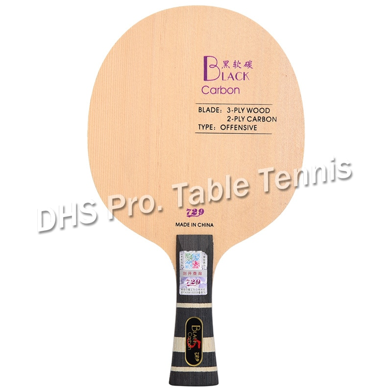 Nueva amistad 729 Negro Azul amarillo ALC hoja de tenis de mesa de carbono ataque raqueta de Ping Pong Bat
