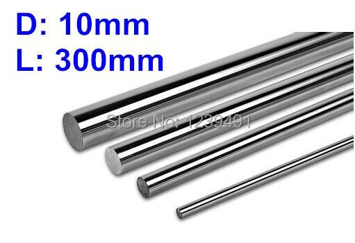 4 unids/lote OD 10mm x 300mm CNC eje lineal varilla endurecida movimiento lineal