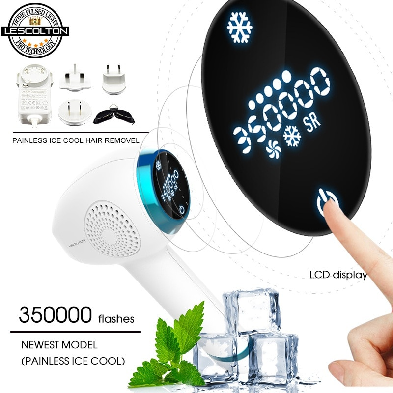 The Newest Lescolton 4in1 ICECOOL IPL Laser Hair Removal Device Permanent Hair Removal IPL Laser Epilator Hair Removal Machine enlarge