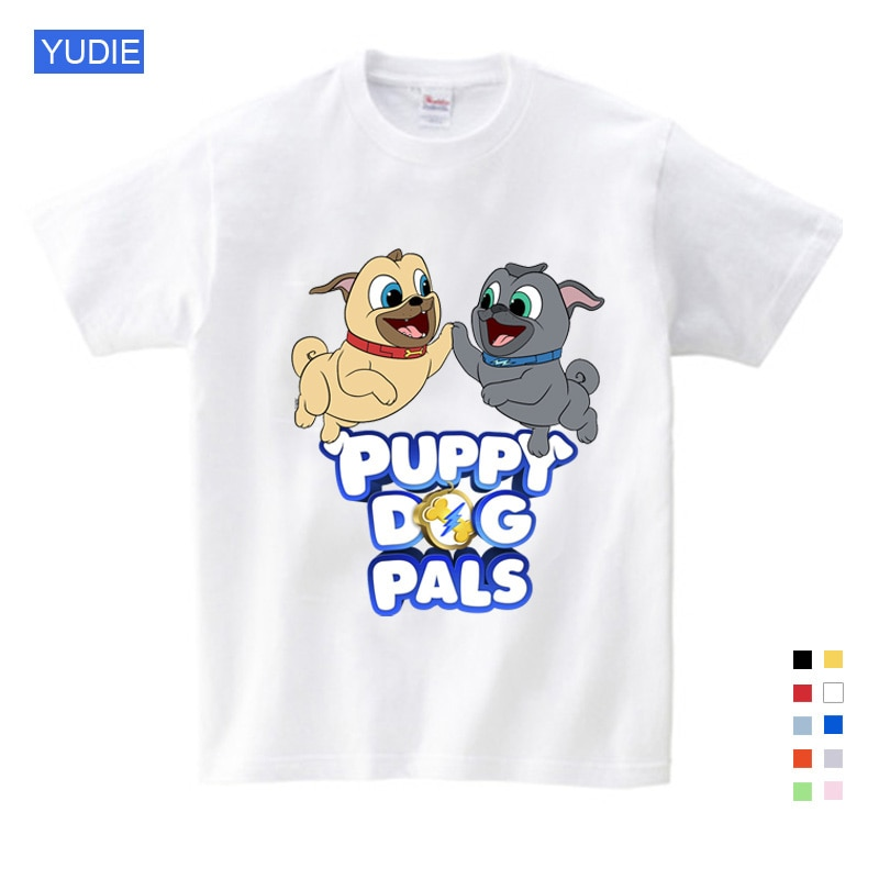 Children's Summer Clothes Dog Printed Tee Lovely Girls Boys T Shirt Gifts for Children Birthday Kids Clothes Girls 8 To 12 YUDIE