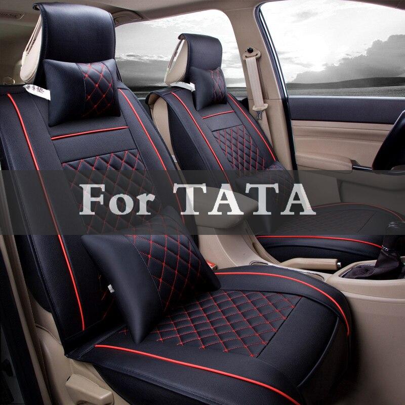Leder Vorder Auto Sitzkissen Leder Vier Saison Nutzung Pad Leder Abdeckung Für Tata Aria Safari Sumo Indica Nano Indigo