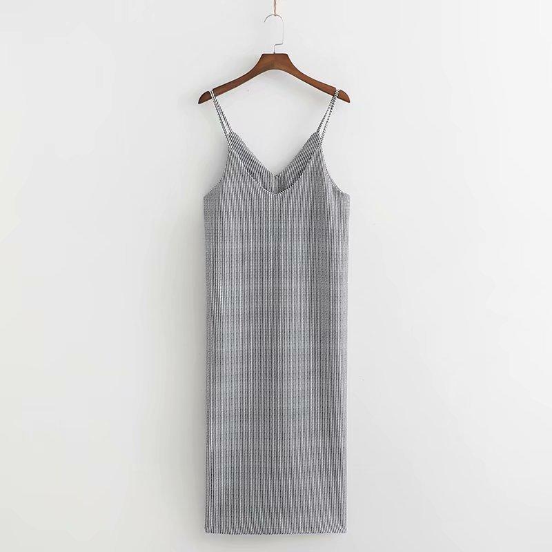 Gran oferta de la moda europea y americana, vestido de talle alto con falda a partir de las costillas XD40-2246