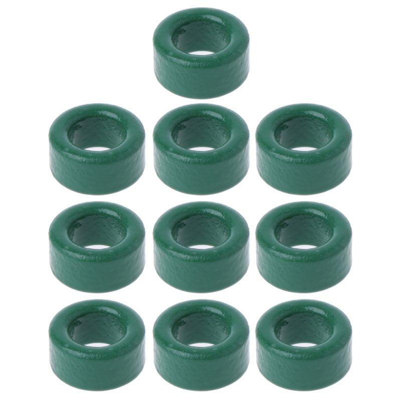 10Pc Power Transformer Ferrite Ring Inductor Coil Green Iron Toroid Ferrite Core Whosale&Dropship