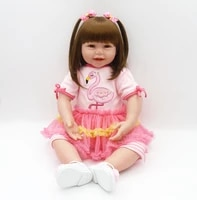 new arrival 61 cm silicone reborn doll 24 inch lifelike toddler baby girl doll reborn babies real vinyl dolls for kids juguetes