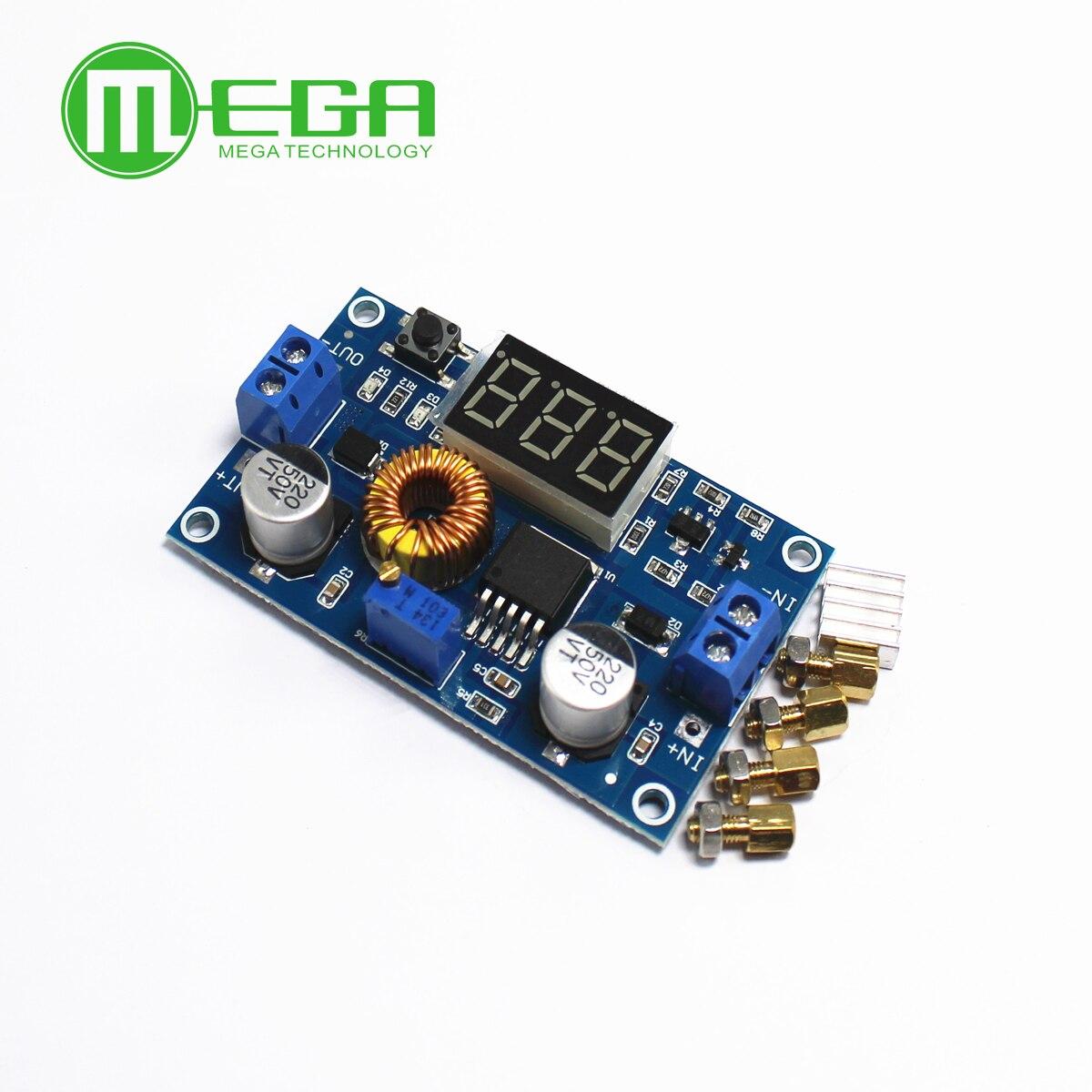 XL4015 5A عالية الطاقة 75W DC-DC قابل للتعديل تنحى وحدة + LED الفولتميتر امدادات الطاقة وحدة
