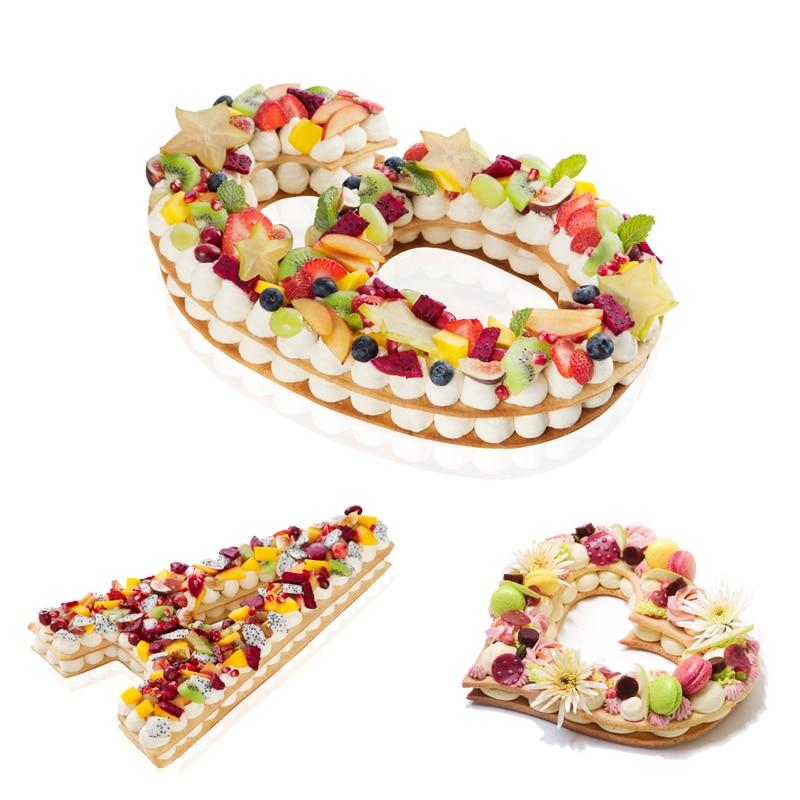 8 дюймов буквы цифры Форма торт тисненый акриловый резак декоративный трафарет