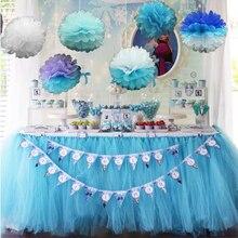1m x 1m tutú de tul falda de mesa tul para vajilla rodapié de mesa de boda textil para el hogar para niños niñas fiesta 1er cumpleaños suministros para fiesta