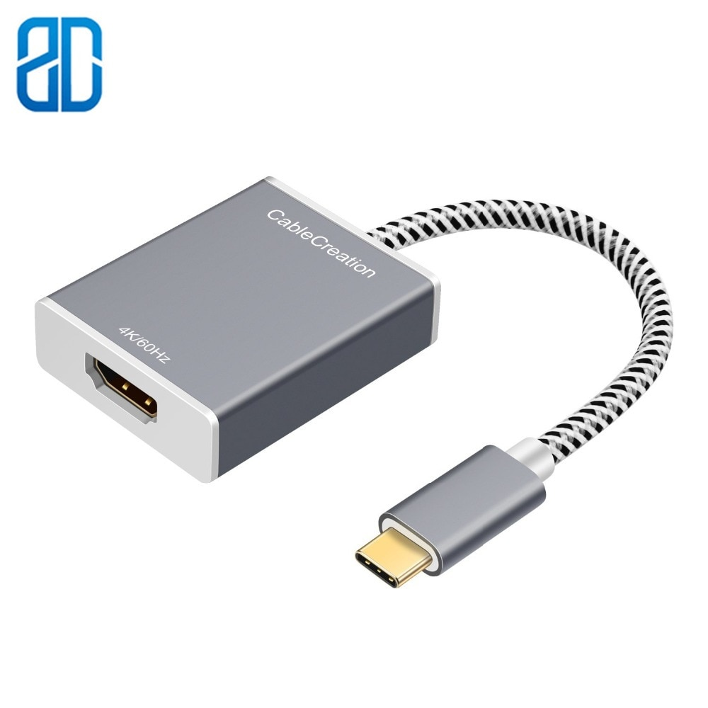 USB C a HDMI 4K @ 60HZ tipo C (Compatible con Thunderbolt 3) a HDMI adaptador MacBook Pro MacBook Air Yoga 910/720 Samsung S8/S9