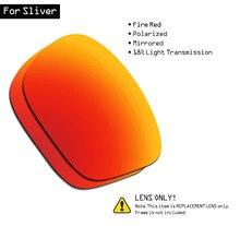 SmartVLT Polarized Sunglasses Replacement Lenses for Oakley Sliver - Fire Red