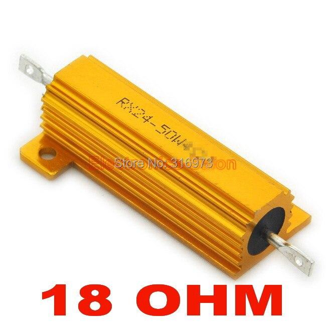 (20 pcs/lot) résistance en aluminium bobiné de 18 ohms 50 W, 50 Watts.