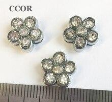 10 pièces accessoires à créer soi-même en alliage de zinc 8mm diamètre intérieur. Perles de breloques de glissière de fleur bricolage 8MM bracelet de collier détiquette de chat de chien de compagnie