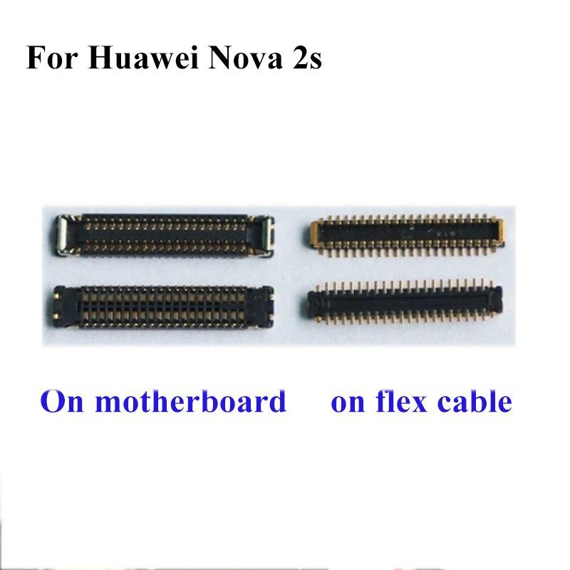 2 uds conector FPC para Huawei Nova 2s 2 S pantalla LCD en cable flexible en placa base para Huawei Nova2s 2s 2 S
