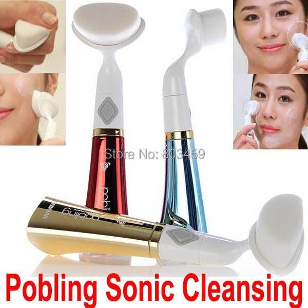 Pobling Ultra sónico cuidado Facial cepillo Eletrical Facial limpieza herramienta de masaje máquina Facial cepillo clali limpiador de poros sonic
