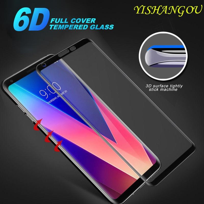 6D de templado de vidrio de la cobertura completa protector de pantalla para LG G7 G5 G6 V40 9H de tacto suave cubierta para LG V30 V40