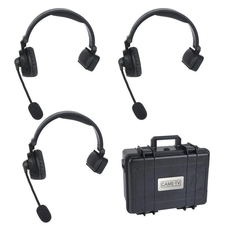 CAME-TV WAERO dúplex Digital inalámbrico plegable auriculares 3 paquetes sistema de intercomunicación comunicación inalámbrica de transmisión