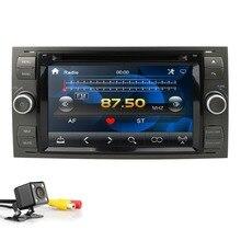"""2Din 7 """"czarny Sliver samochodowy odtwarzacz DVD dla Ford Focus/Mondeo/Transit/C-MAX/Fiest GPS Radio samochodowe z nawigacją auto BT 1080P CD FM/AM DAB"""
