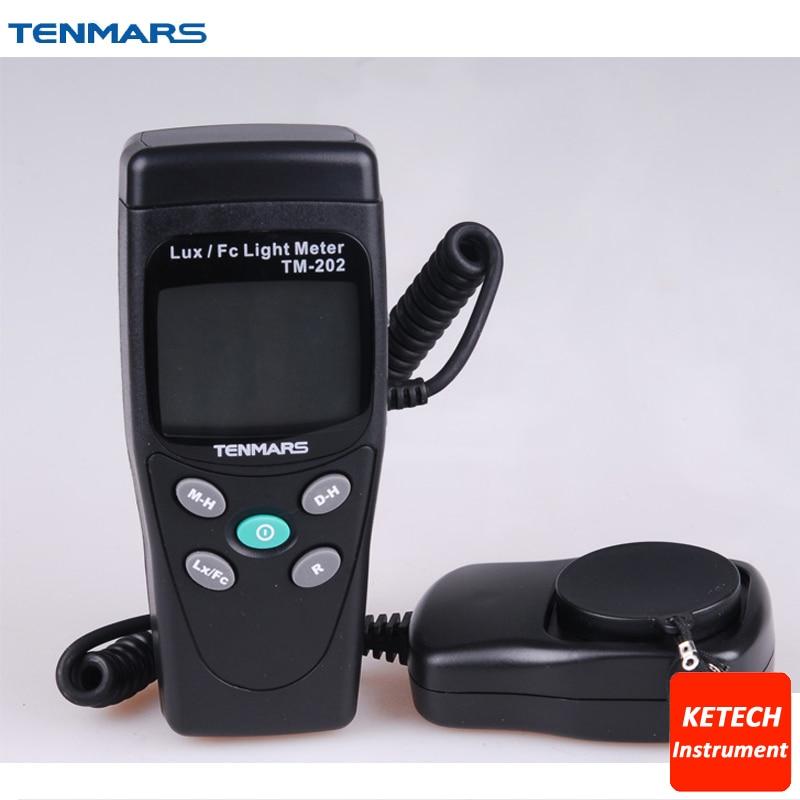 أدى ضوء متر luminometer الرقمية لوكس متر TM202