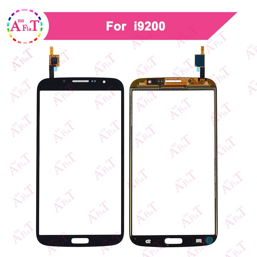 "5 unids/lote 6,3 ""para Samsung Galaxy Mega GT-I9200 i9200 i9205 Sensor de digitalizador de pantalla táctil Panel de lente de vidrio exterior 3m sin pegamento"