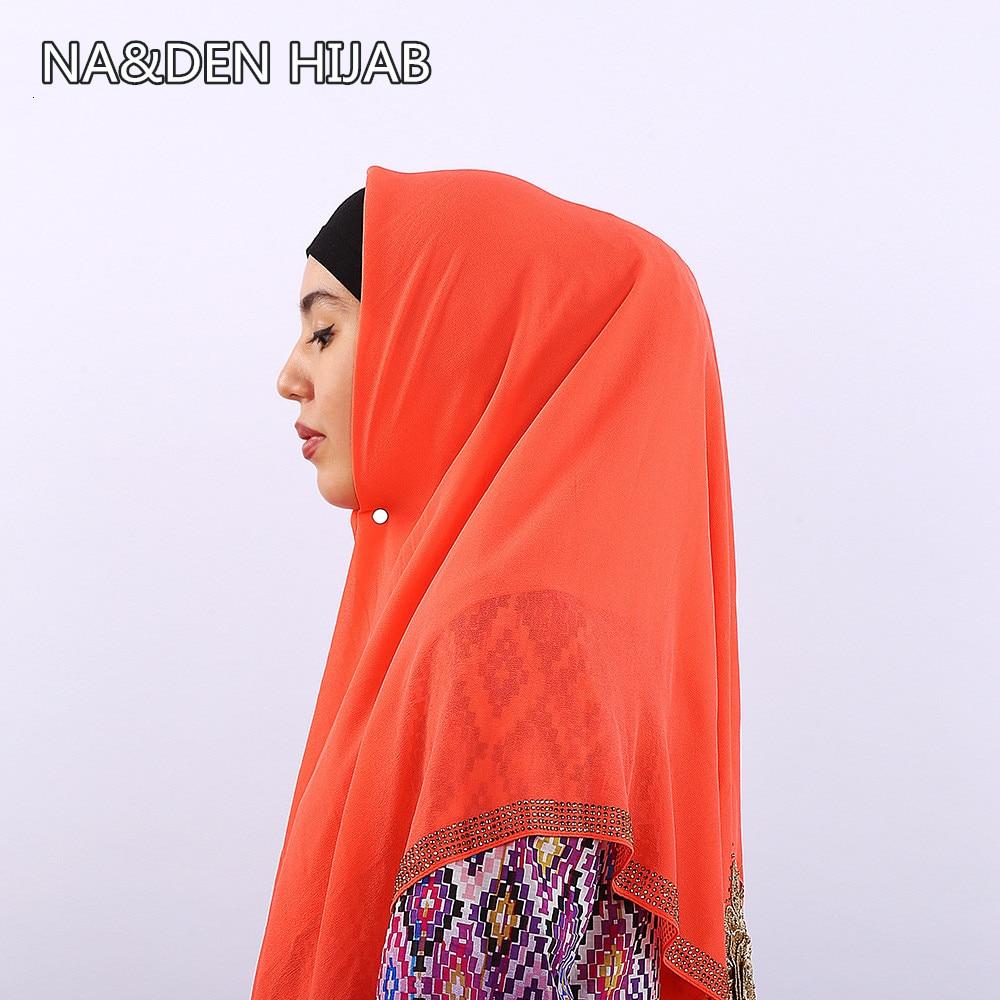 2019 N2019 NEW women fashion spring summer scarf bubble chiffon high-end rhinestone  National retro style hijab 10pcs/lot