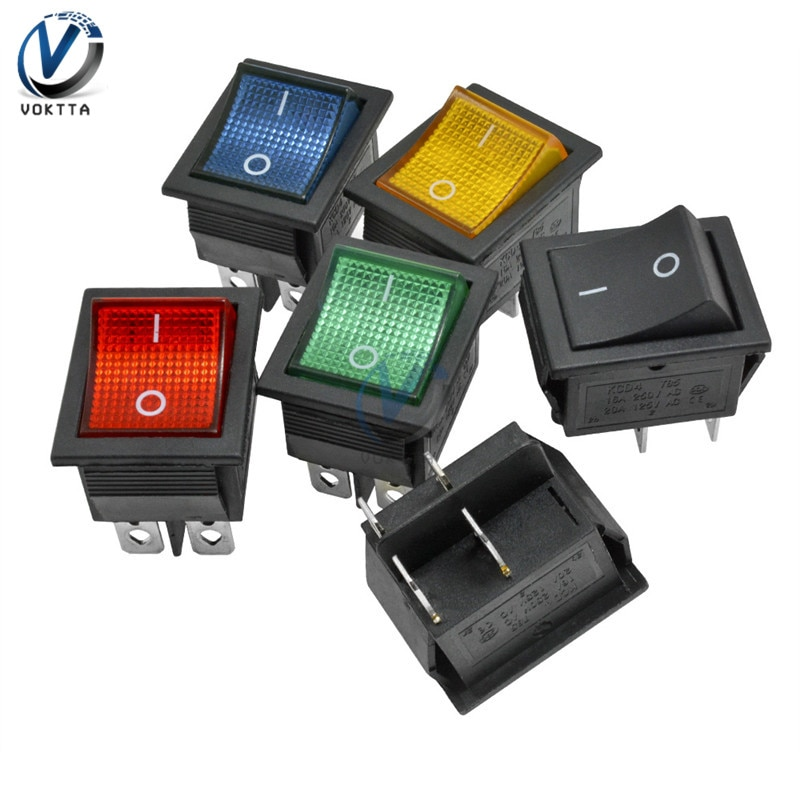 KCD4 Rocker Switch Power Switch ON-OFF/ON-OFF-ON 2/3 Position 4/6 Pin Electrical Equipment With Ligh