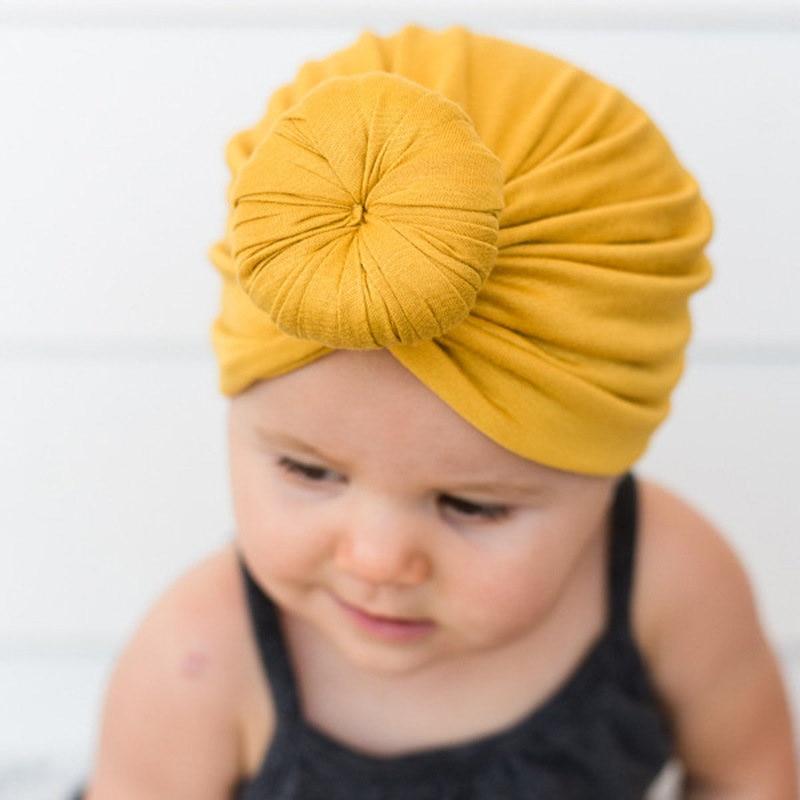 Gorros para bebés recién nacidos lindo sólido elástico anudado diadema chicas turbante, muestras de lazo