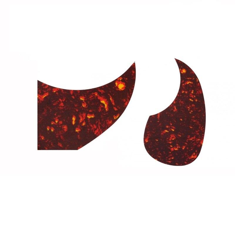 Golpeador de guitarra acústica Alice 1 Uds guitarra Folk de madera cadena Placa de protección jita Escudo Rojo Negro decoración de guitarra guard
