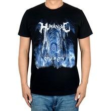 2 Soorten Street Fashion Humaniac Merk T-shirt Katoen Punk Fitness Hardrock Thrash Metal Zwarte Shirts Kerk Skateboard
