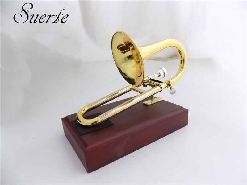 Bb/A Soprano Trumpet with mouthpiece Stand Yellow brass Slide trumpet musical instruments enlarge