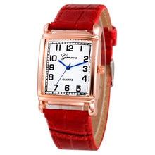 Fashion Women Digital Watch Bracelets Leather Rectangle Analog Quartz Wrist Watch Luxury Lady Watch