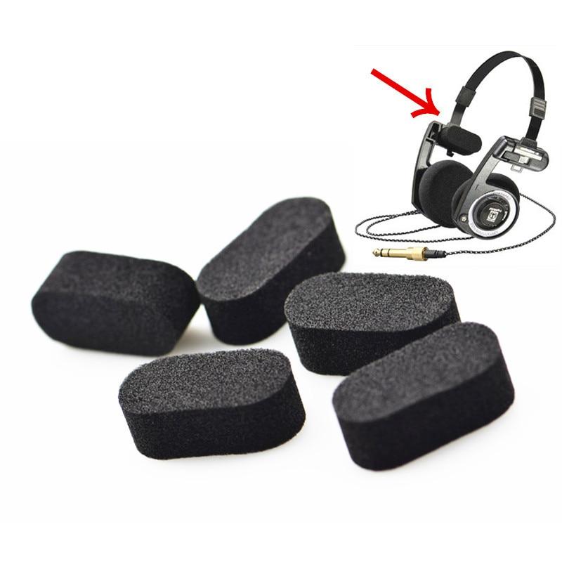 LEORY 10 unids/lote reemplazo negro esponja diadema almohadillas de espuma pARA Porta Pro PP reemplazo de almohadillas piezas accesorio de auriculares