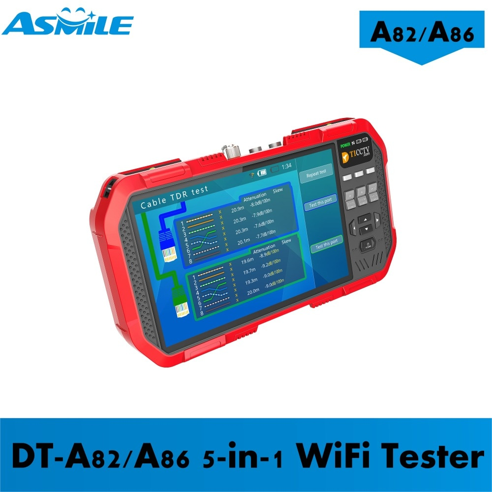 5 In 1 H.265 4K HD IP CCTV Tester Monitor AHD CVI TVI CVBS Camera Test 8MP ONVIF HDMI Input Multimeter Optical fiber A82/A86 enlarge