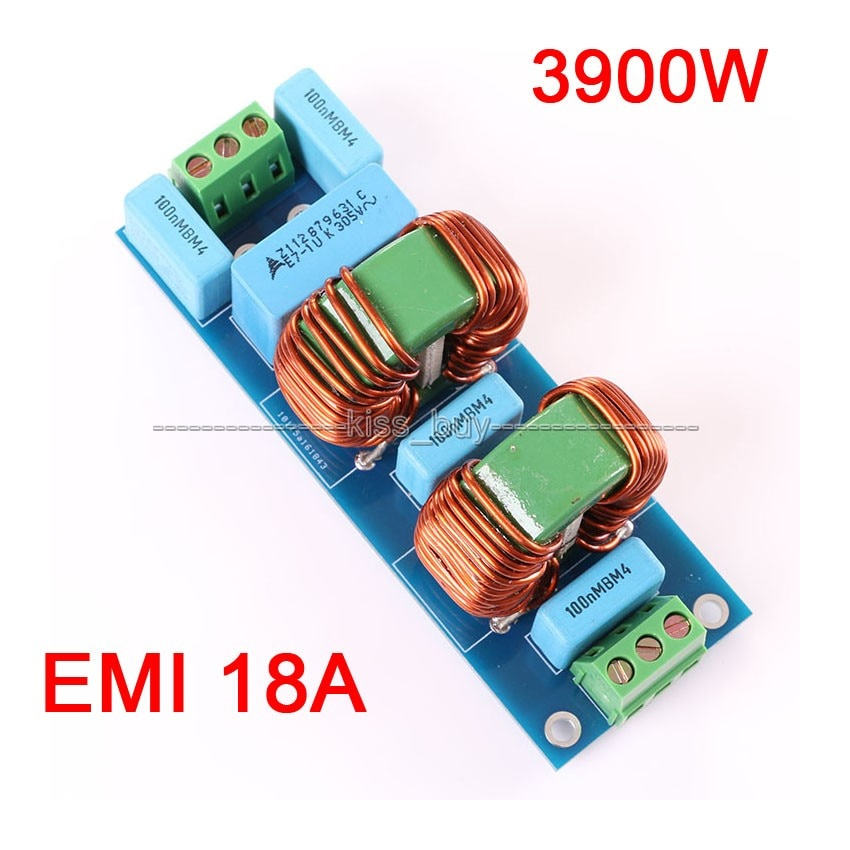 Высокочастотная плата для фильтров EMI 18A, 3900 Вт, наборы для усилителя динамиков