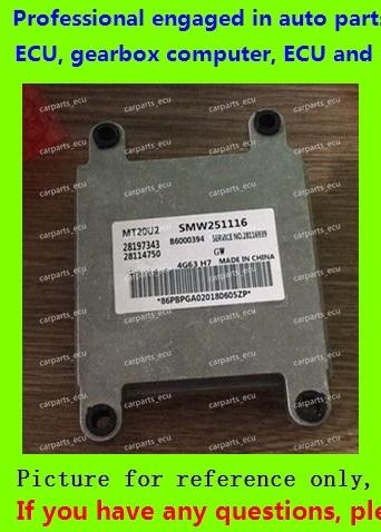 For car engine computer/MT20U MT20U2 MT22  ECU/Electronic Control Unit/Car PC/Great Wall Cowry MPV/28197343 SMW251116 B6000394