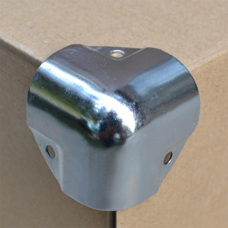 Envío Gratis, 4 piezas, soporte de metal para esquinas, bolsas de cosméticos, muebles, esquina torner, caja de madera, esquina de caja de aire