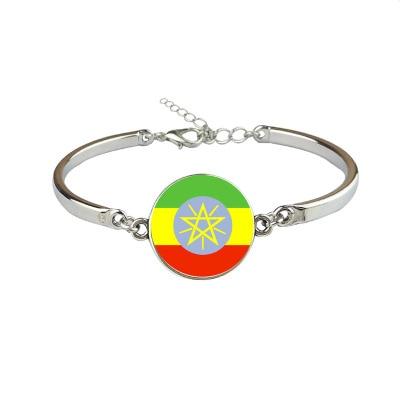 New Ethiopia Flag Bangles Country Ethiopia Flag Bracelets Jewellery