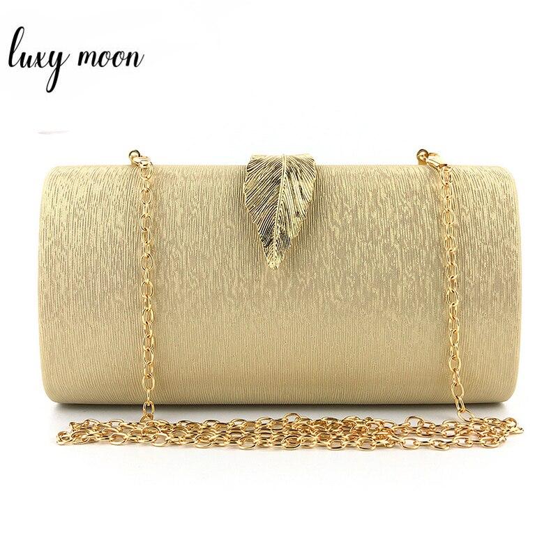 Bolso y bolso de mano de piel sintética, Metal dorado cierre con forma de hoja, bolso de mano, Mini bolso de verano para mujer, fiesta, boda, bolso de mano ZD1284