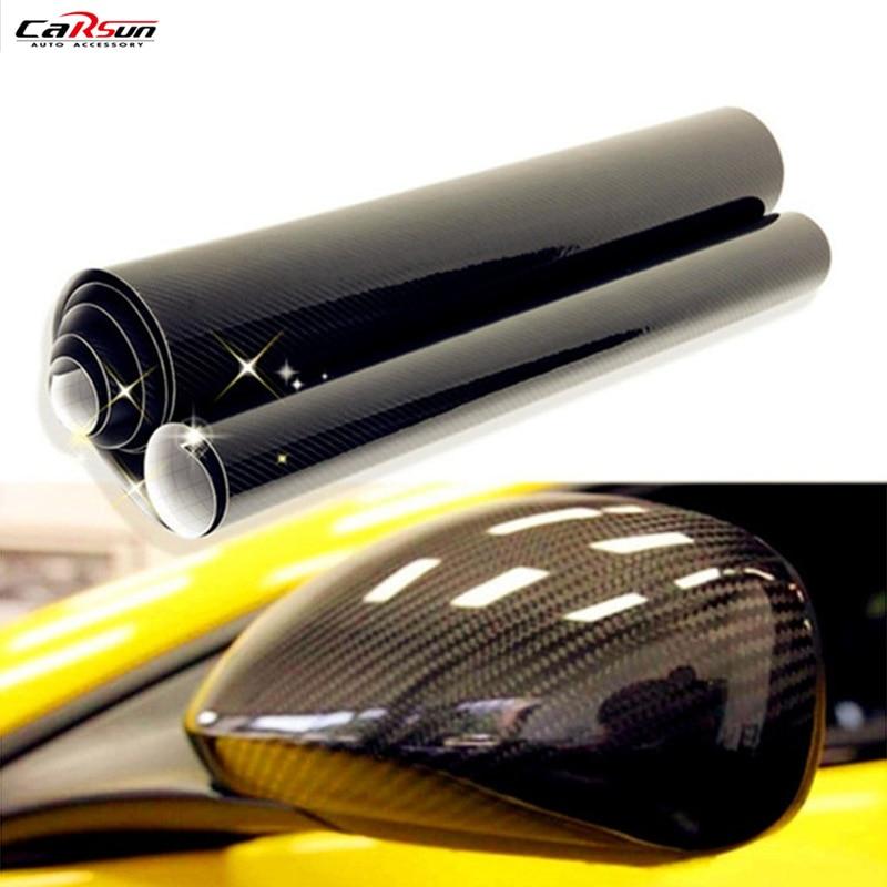 CARSUN, высокое качество, ультра блеск 5D, углеродное волокно, виниловая пленка, текстура, глянцевая, автомобильные наклейки 5D, углеродная пленк...