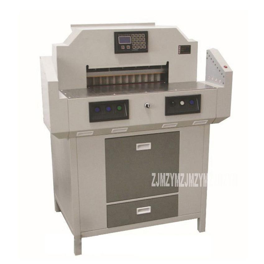 WH520H 110 فولت/220 فولت 1.2KW عالية الطاقة كامل التلقائي الكهربائية آلة قص الورق مشذب الورق القاطع بك قطع جهاز