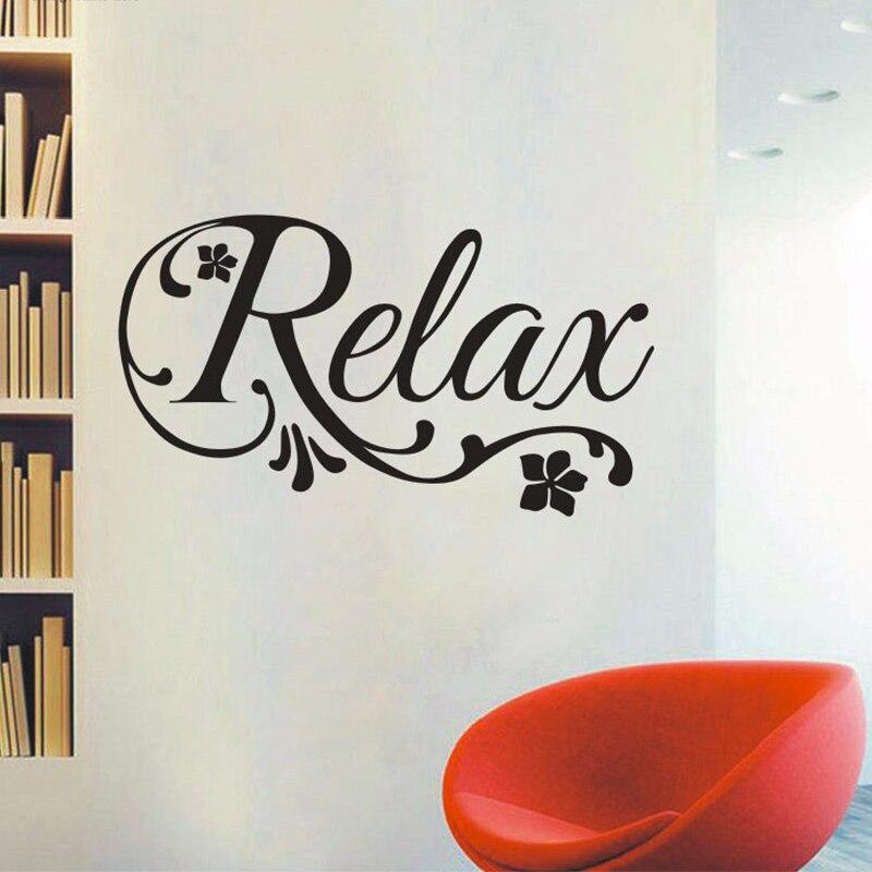 Виниловая настенная наклейка с цветами для расслабляющих завитков, домашний декор-салон красоты, спа, спальни, ванной комнаты, 3 размера