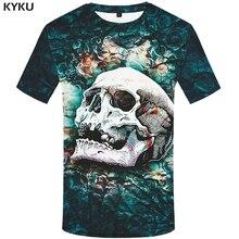 KYKU marque Sulku t-shirt hommes squelette drôle T-shirts Harajuku chemise impression flamme t-shirt imprimé gothique T-shirts 3d hommes vêtements