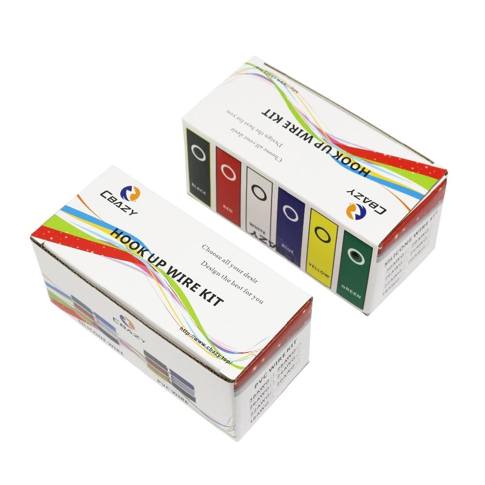 60 m/pudełko 196ft 28 AWG 10 metrów każdy kolor elastyczny drut z gumy silikonowej konserwy miedź linia zestaw 6 kolory DIY