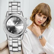 Genève luxe femmes montres relogio feminino mode métal Bracelet montre Bracelet Quartz dames femmes nouvelle horloge bayan kol saati