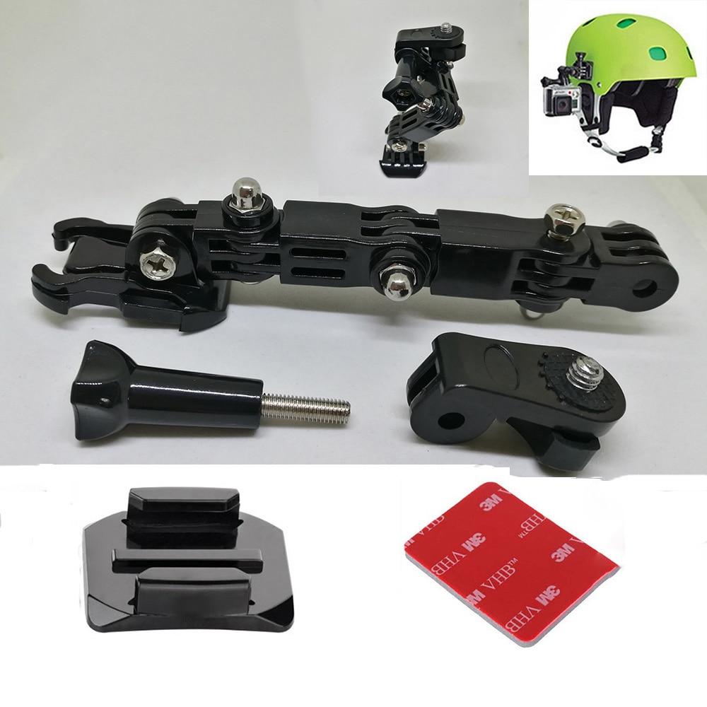 Adjustable Helmet Curved Adhesive Side Mount for xiaomi yi 4K GoPro HD Hero 2 3 3+ 4 5 6 Sjcam Sj4000 action Camera Accessories