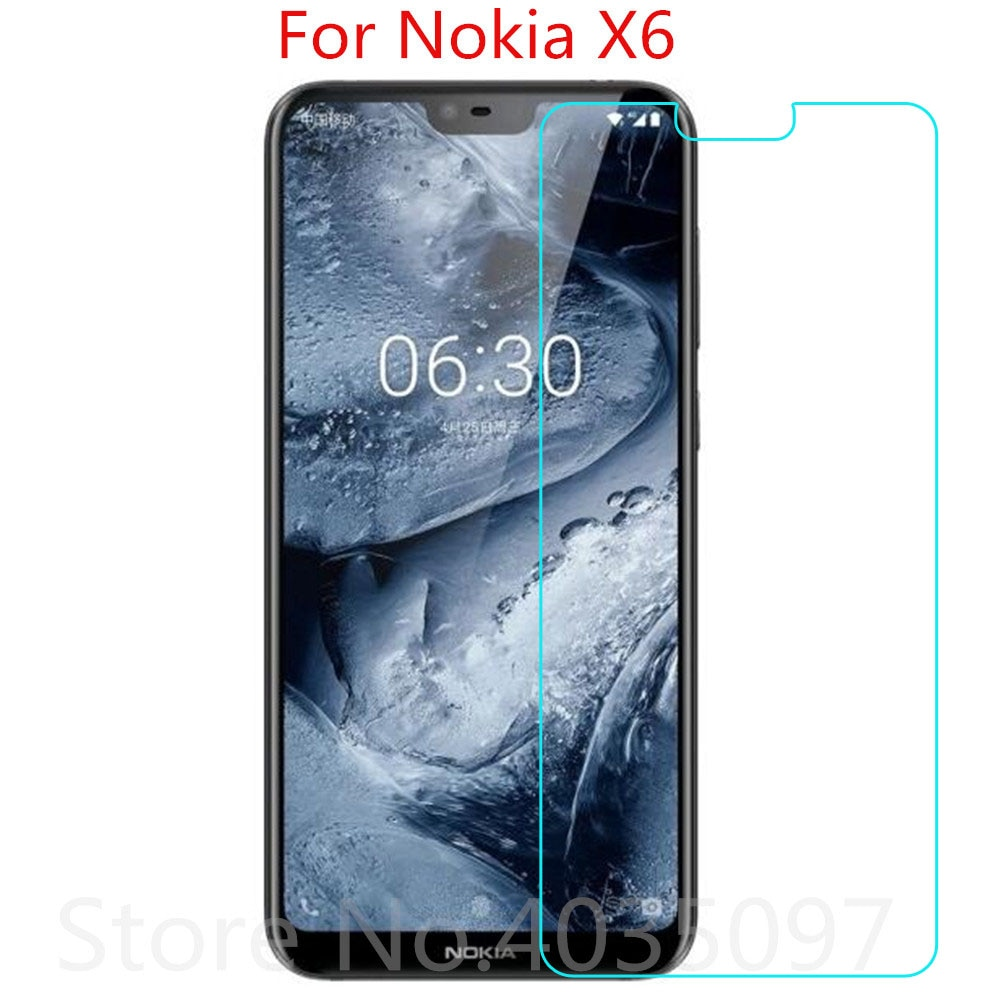 2.5D 9H Glass For Nokia X6 Screen Protector Tempered Glass For Nokia X6 2018 Anti-Scratch Protective
