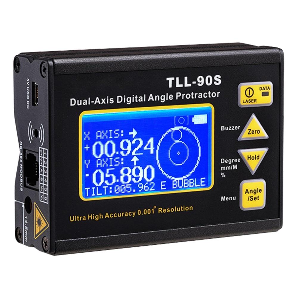 Medidor de Ángel de alta resolución 0.001 pantalla grande LCD láser marcado función de carga imán Función de adsorción para PLC