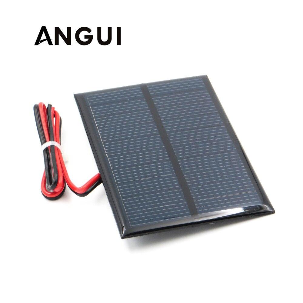 3,5 V 250mA con 30cm extender cable Panel Solar silicio policristalino bricolaje módulo para cargador de batería Mini célula Solar de juguete